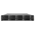 QNAP REXP-1220U-RP disk array Rack (2U) Black