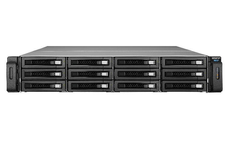 QNAP REXP-1220U-RP Rack (2U) Black disk array