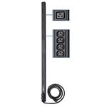 Tripp Lite 5/5.8kW Single-Phase 208/240V Basic PDU, 38 Outlets (32 C13 and 6 C19), NEMA L6-30P Input, 3.05 m (10-ft.) Cord, 0U Vertical