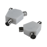 Cables Direct 9.5MM 1 MALE-2 FEMALE ADAPTOR WHITE Cable splitter