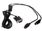 Datalogic CAB-320 RS-232 Straight 25-Pin DTE signal cable Black