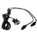 Datalogic CAB-320 RS-232 Straight 25-Pin DTE cable de señal Negro