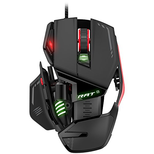 Mad Catz RAT8 Wired Optical Gaming Mouse DPI-12000 PMW 3360 Optical Sensor