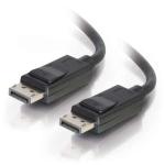 C2G 7m DisplayPort Cable with Latches 4K - 8K UHD M/M - Black Negro