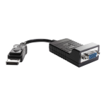 HP DisplayPort / VGA DisplayPort VGA Black