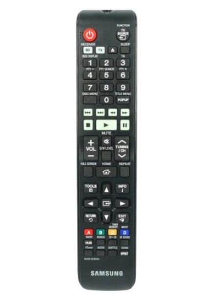 Samsung AH59-02404A IR Wireless Press buttons Black remote control