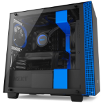 NZXT H400 Mini-Tower Black, Blue computer case