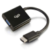 C2G 80500 adaptador de cable de vídeo 0,2 m HDMI VGA (D-Sub) Negro