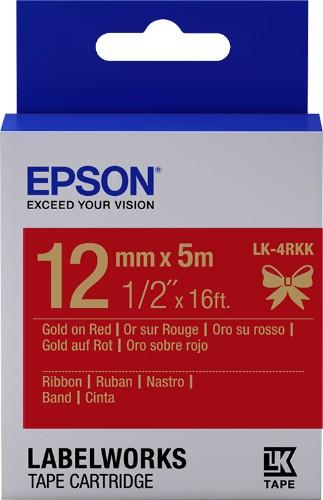 Epson C53S654033 (LK-4RKK) DirectLabel-etikettes, 12mm x 5m
