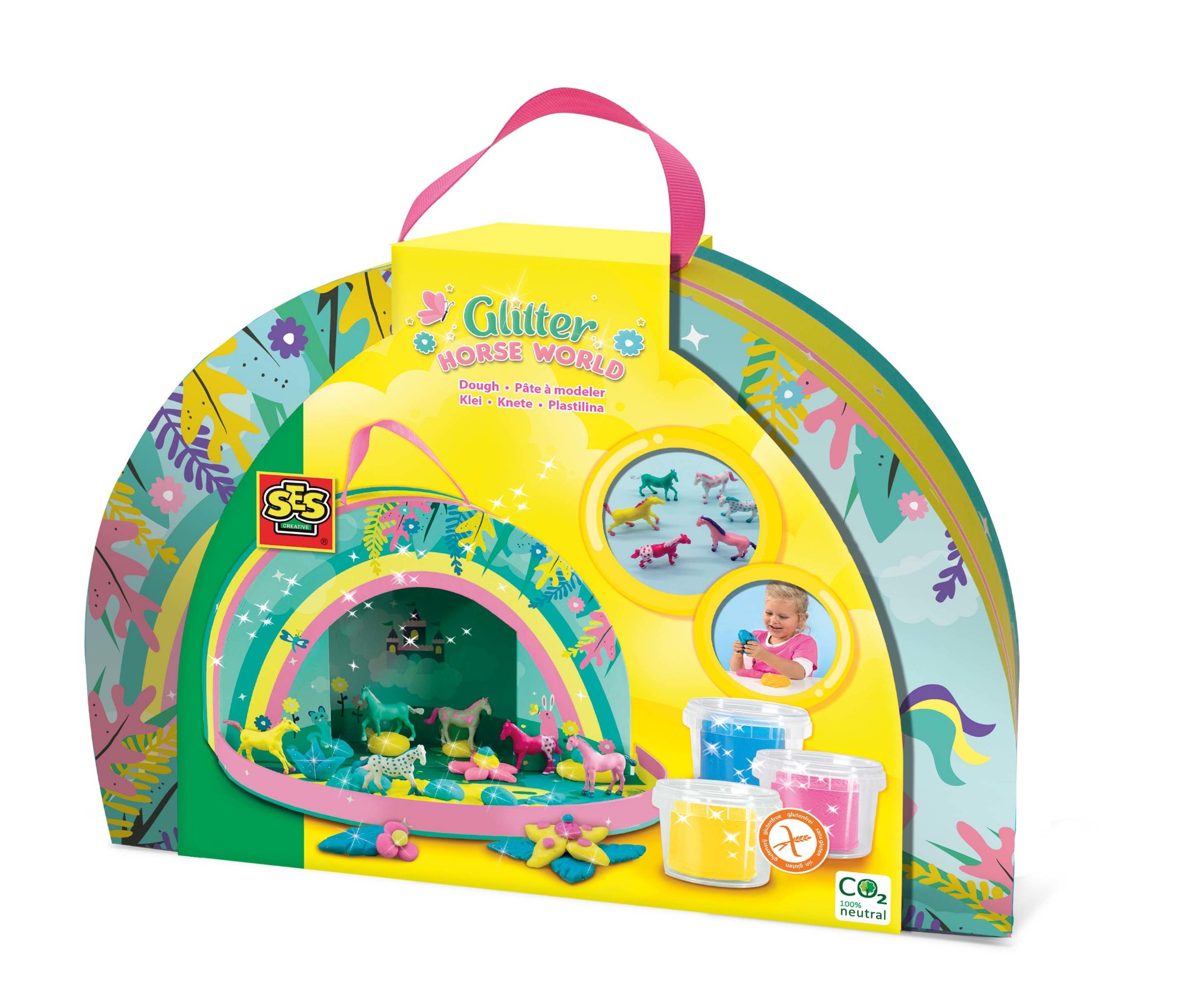 SES Creative Glitter horse world - Play suitcase