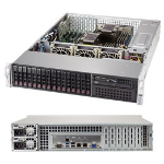 Supermicro SYS-2029P-C1R server barebone Intel® C621 LGA 3647 Rack (2U) Black