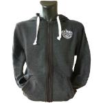 JACK DANIEL'S Men's Old No. 7 Brand Logo Full Length Zipper Hoodie, Small, Grey (HD255613JDS-S)