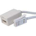 Cablenet 22-3000 telephony cable 3 m White
