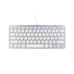 R-Go Tools Compact Keyboard, QWERTZ (DE), white, wired