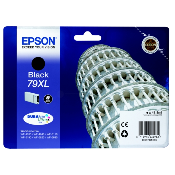Epson C13T79014010 (79XL) Ink cartridge black, 2.6K pages, 42ml