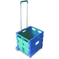 VFM FOLDING CONTAINER TROLLEY BLU/GRN 356684