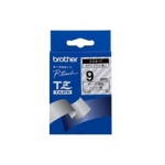Brother Black on Clear Gloss Laminated Tape, 9mm TZ label-making tape