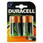 Duracell Rechargeable D Size 2 Pack Nickel-Metal Hydride (NiMH) 2200mAh 1.2V rechargeable battery