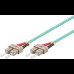 Microconnect FIB223005 fiber optic cable 5 m OM3 SC/PC Aqua