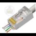 Microconnect KON512-50EZ wire connector RJ45 Silver, Transparent