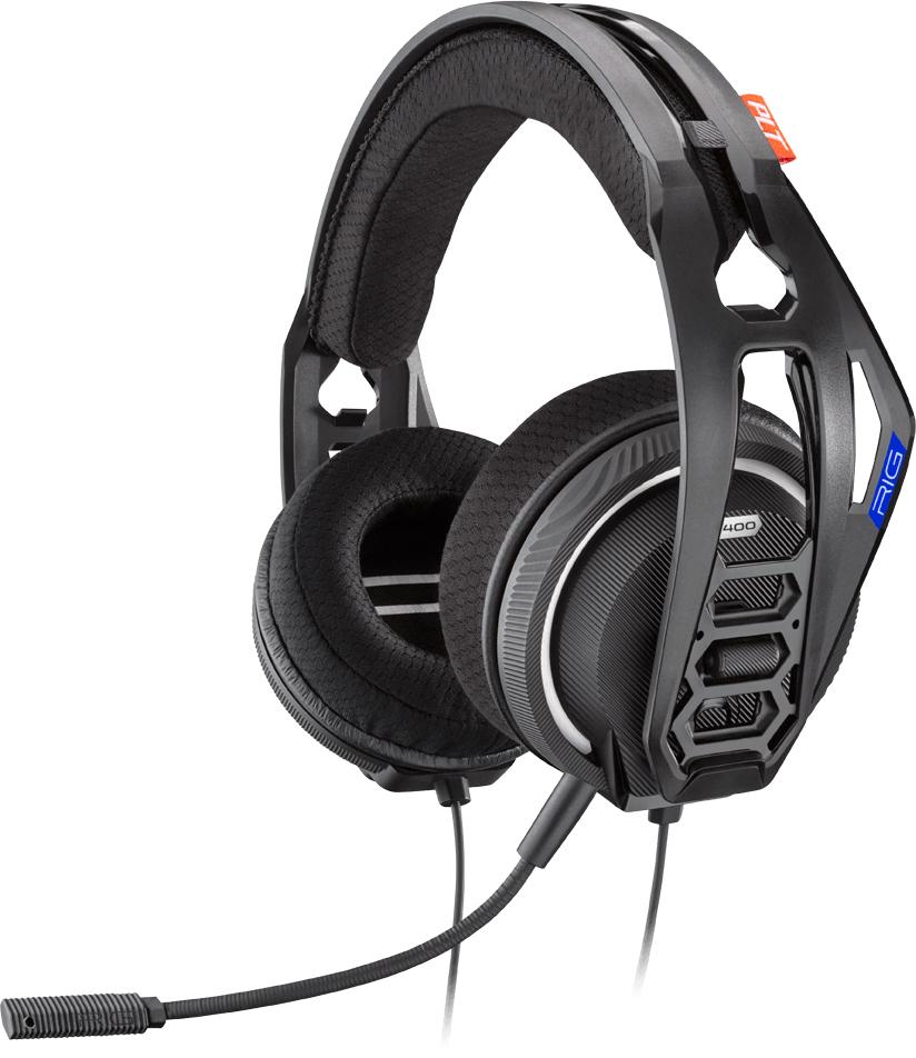 Plantronics RIG 400HS Binaural Head-band Black,Blue headset