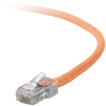 "Belkin Cat5e, 7ft, 1 x RJ-45, 1 x RJ-45, Orange networking cable 82.7"" (2.1 m)"