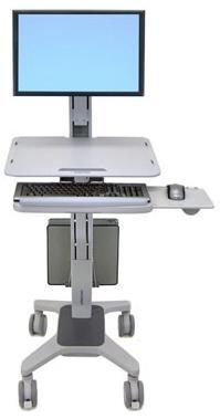 "Ergotron WorkFit C-Mod, Single Display Sit-Stand Workstation 27"" Grey"