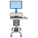 "Ergotron WorkFit C-Mod, Single Display Sit-Stand Workstation Grey 68.6 cm (27"")"