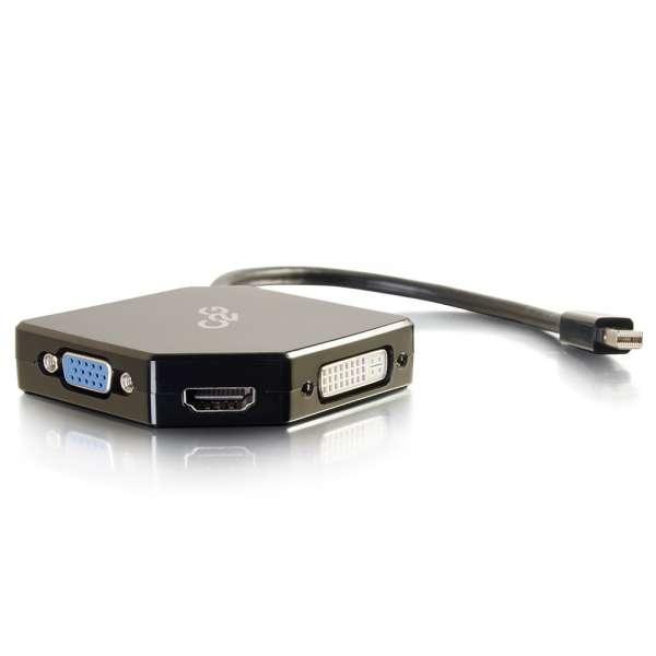 C2G 80929 adaptador de cable Mini DisplayPort HDMI, VGA, DVI Negro