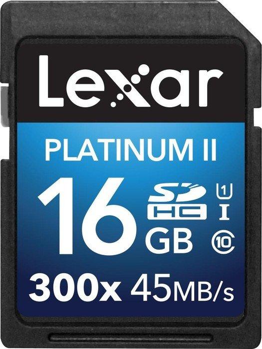 Lexar 16GB Platinum II SDHC UHS-I 16GB SDHC Class 10 memory card
