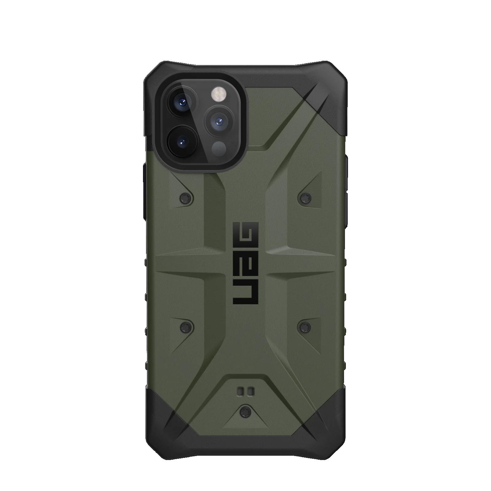 """Urban Armor Gear Pathfinder funda para teléfono móvil 17 cm (6.7"""") Negro, Oliva"""