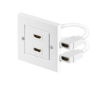 Microconnect 2 x HDMI HDMI White socket-outlet