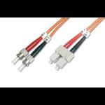 Digitus Fiber Optic Multimode Patch Cord, ST / SC