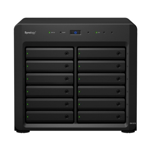 Synology DX1215 24TB Compact Black disk array