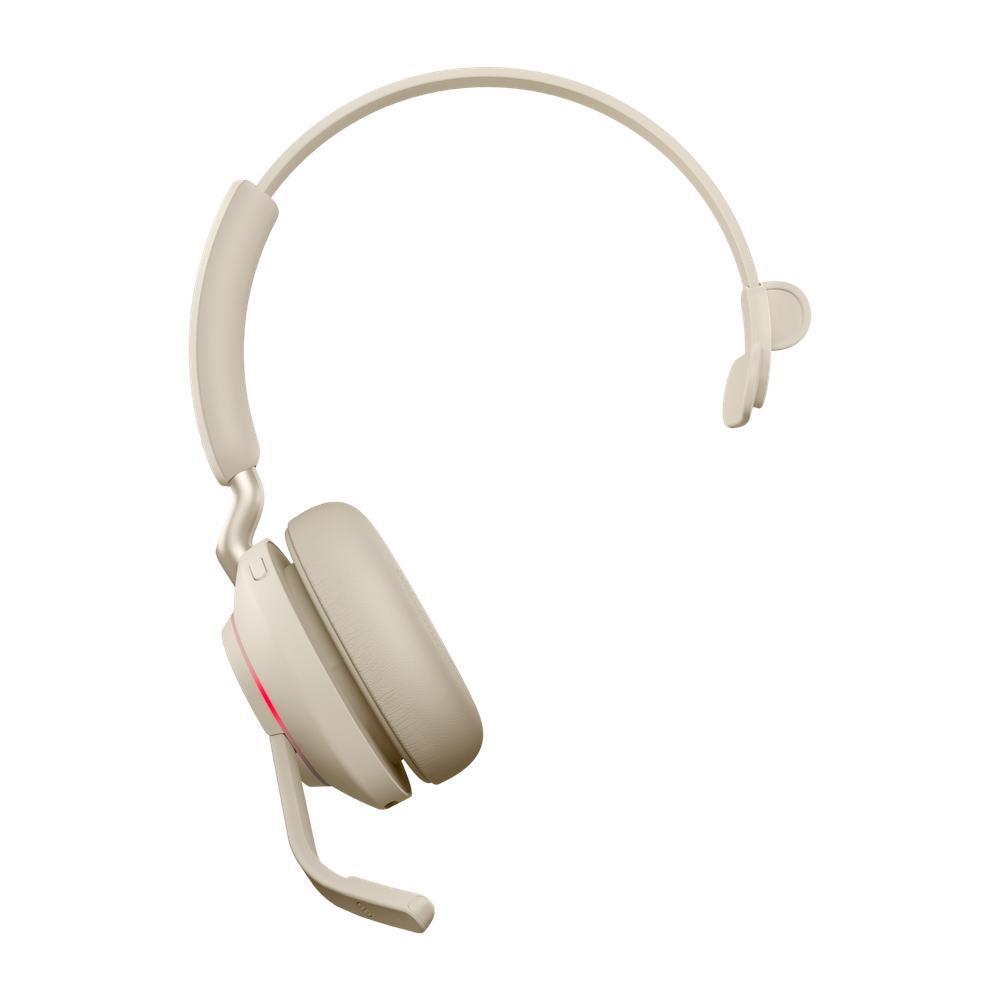 Jabra Evolve2 65, UC Mono Auriculares Diadema Beige