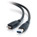 C2G 81685 cable USB 3 m USB A Micro-USB B Macho Negro