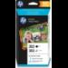 HP Paquete de ahorro 303 negro/tricolor con 40 hojas/10 x 15 cm