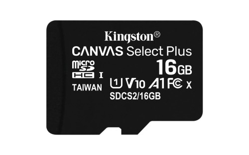 Kingston Technology Canvas Select Plus memory card 16 GB MicroSDHC Class 10 UHS-I