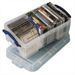REALUSE REALLY USEFUL 9 LTR BOX WITH LID CLR 9C