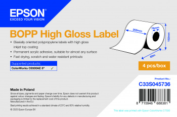 Epson C33S045736 etiqueta de impresora