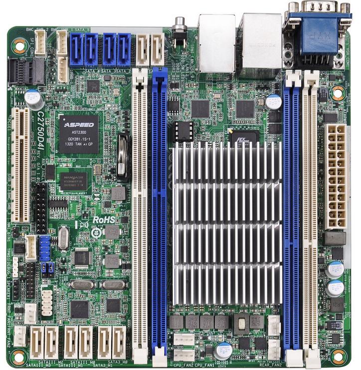 Asrock C2750D4I server/workstation motherboard BGA 1283 Mini-ITX