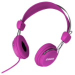 New Laser Headphones Stereo Kids Friendly Colourful Series Pink