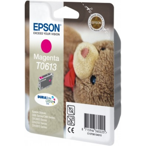 Epson C13T06134020 (T0613) Ink cartridge magenta, 250 pages @ 5% coverage, 8ml