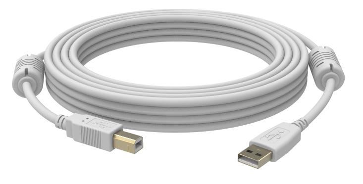 Vision USB 2.0, 1m cable USB USB A USB B Blanco