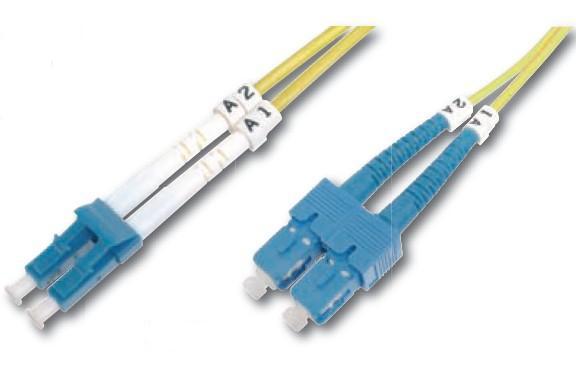 Digitus DK-2932-05 fibre optic cable 5 m LC SC Yellow