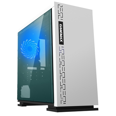 GAMEMAX Expedition White Micro Tower 1 x USB 3.0 / 2 x USB 2.0 Side Window Panel White Case with Blu