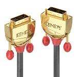 Lindy 36215 DVI cable 25 m DVI-D Gold,Grey