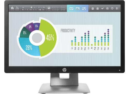"HP EliteDisplay E202 computer monitor 50.8 cm (20"") HD+ LED Black,Silver"