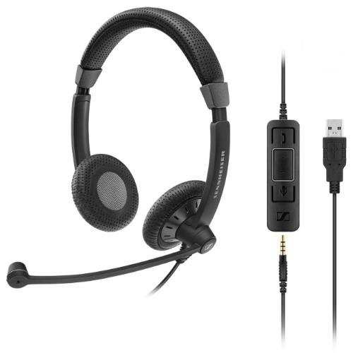 Sennheiser SC 75 USB MS Binaural Head-band Black