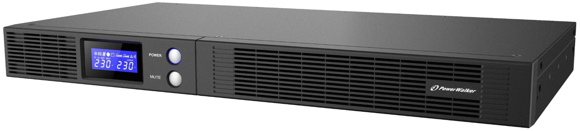 PowerWalker VI 750 R1U IEC UK Line-Interactive 0.75 kVA 450 W 4 AC outlet(s)